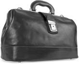 Chiarugi Black Genuine Italian Leather Doctor Bag