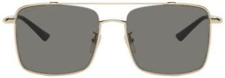 Gucci Gold and Black Square Sunglasses