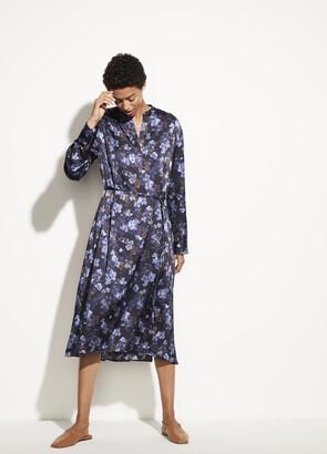 Vince Plumeria Blooms Satin Dress