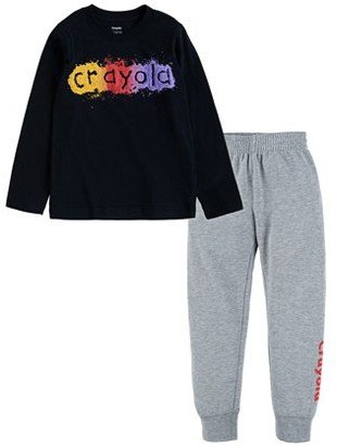 Crayola Boys Long Sleeve Graphic T-Shirt & Jogger Pants, 2-Piece Outfit Set, Sizes 4-7