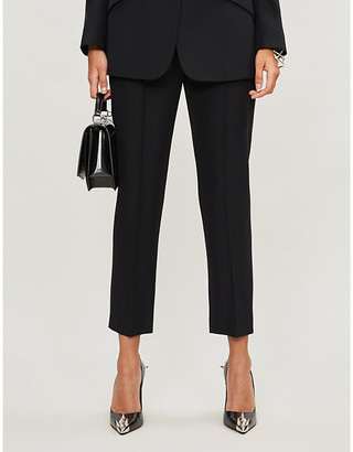 Alexander McQueen High-rise crepe tapered trousers