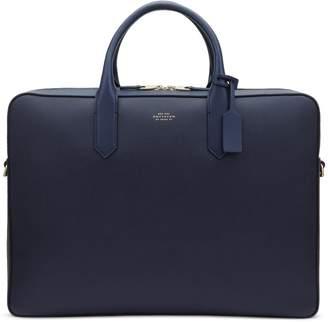 Smythson Panama Large Leather Briefcase