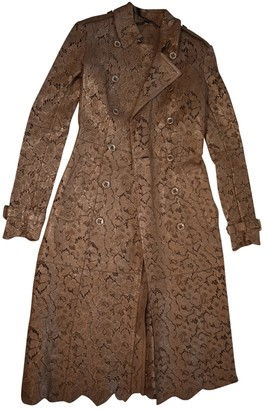 Burberry Gold Leather Trench coats