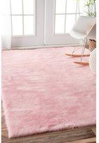 nuLoom Cozy Soft and Plush Faux Sheepskin Shag Kids Nursery Pink Rug (5' x 7')