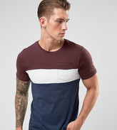 ONLY & SONS T-Shirt With Block Stripe And Pocket Branding