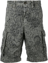 Incotex floral print cargo shorts - men - Cotton/Linen/Flax - 36