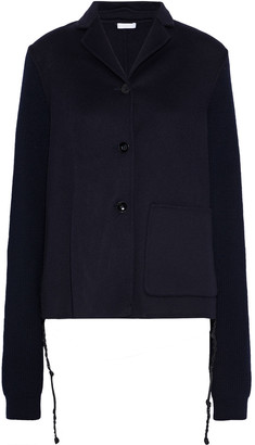 Jil Sander Ribbed Knit-paneled Cashmere-felt Jacket
