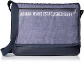 Armani Jeans Men's Printed Nylon Messenger