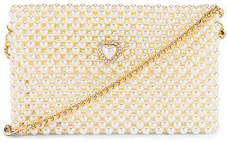 Ettika Pearl Heart Bag