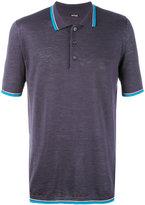 Kiton contrast stripe polo shirt - men - Silk/Linen/Flax - L