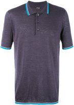 Kiton contrast stripe polo shirt - men - Silk/Linen/Flax - M