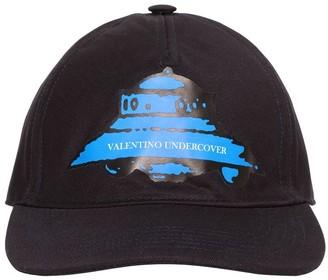 Valentino Vu Ufo Printed Cotton Baseball Hat