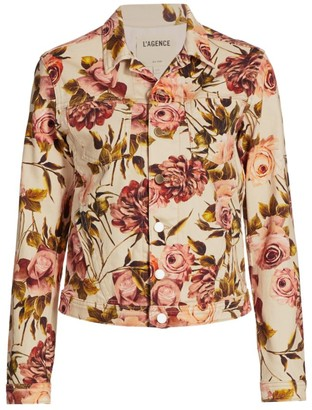 L'Agence Celine Floral Trucker Jacket