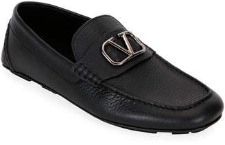 Valentino Garavani Men's Leather Slip-On Driver