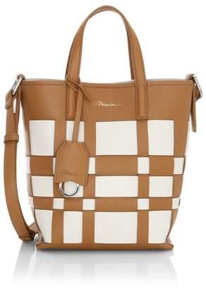 3.1 Phillip Lim Mini Odita Modern Lattice Leather Bucket Bag