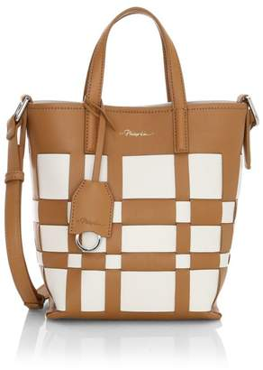 3.1 Phillip Lim Mini Odita Modern Lattice Leather Bucket Bag