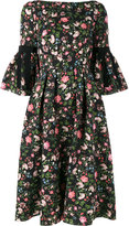 Erdem Aleena floral matelassé dress - women - Polyester/Polyamide/Silk - 8