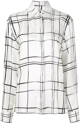 Alexandre Vauthier Checked Long-Sleeve Shirt
