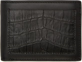 Alexander Wang Black Croc-Embossed Wallet