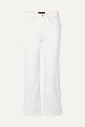 3x1 Joni Cropped Mid-rise Wide-leg Jeans - White