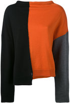 Marni colour block knitted sweater