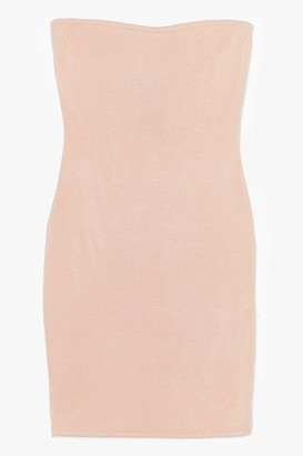 Nasty Gal Womens Be Tight There Bodycon Mini Dress - Stone