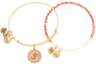 Alex and Ani Color Infusion Om Expandable Wire Bracelet Set