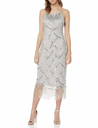 Frock and Frill Women's Gaia Embellished Fringed Dress Party
