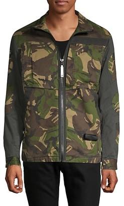 G Star Camouflage Zip-Front Jacket