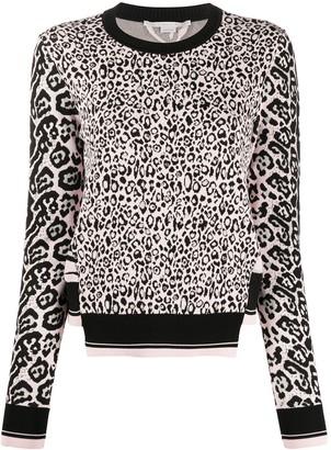 Stella McCartney Leopard-Print Jumper