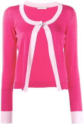 Emilio Pucci single button knitted cardigan