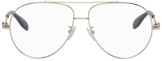 Alexander McQueen Gold Aviator Glasses