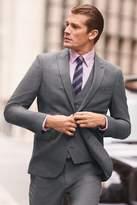 Mens Next Grey/Blue Gingham Super Skinny Fit Check Suit: Jacket - Grey