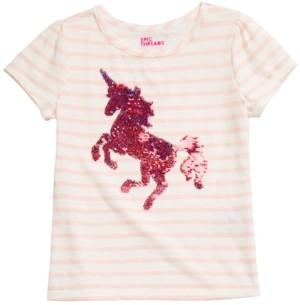 Epic Threads Little Girls Unicorn Flip Sequin Top, Created for Macy's