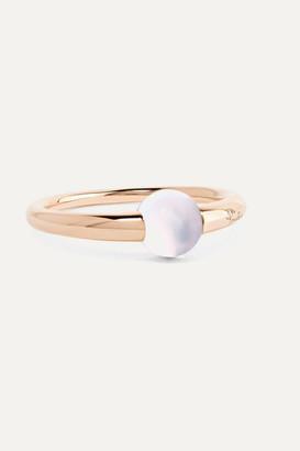 Pomellato M'ama Non M'ama 18-karat Rose Gold Moonstone Ring - 15