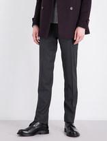 Corneliani Nailhead-patterned academy-fit stretch-wool trousers