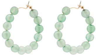 Holly Ryan Quartz Beaded Hoop Earrings