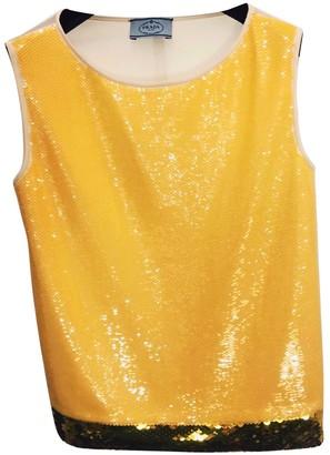 Prada Yellow Glitter Top for Women