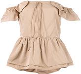 Rochas layered ruffle bardot top - women - Cotton/Polyester - 44