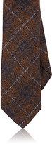 Barneys New York Men's Plaid Wool Necktie-BURGUNDY