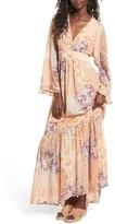 WAYF Women's Viola Bell Sleeve Maxi Dress