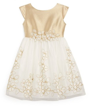 Lesy Embroidered Flower Dress (3-14 Years)