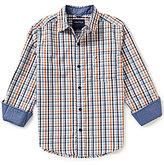 Nautica Big Boys 8-20 Plaid Long-Sleeve Woven Shirt
