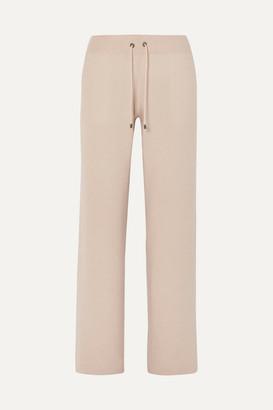 Brunello Cucinelli Cashmere Wide-leg Track Pants - Beige