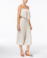 Thalia Sodi Strapless Wide-Leg Jumpsuit, Created for Macy's