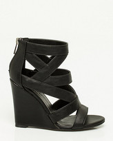 Le Château Leather-Like Caged Wedge