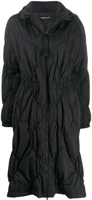 Emporio Armani diamond quilted coat