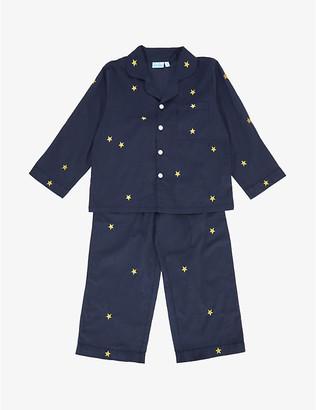 Mini Lunn Star-embroidered cotton pyjamas 2-11 years