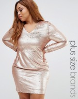 Missguided Plus Sequin Mini Dress