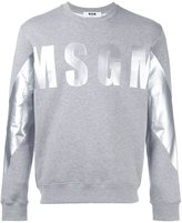 MSGM logo print sweatshirt - men - Cotton/Viscose - S